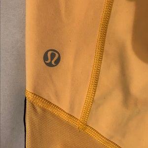 Yellow Lululemon Capri Pants Size 6
